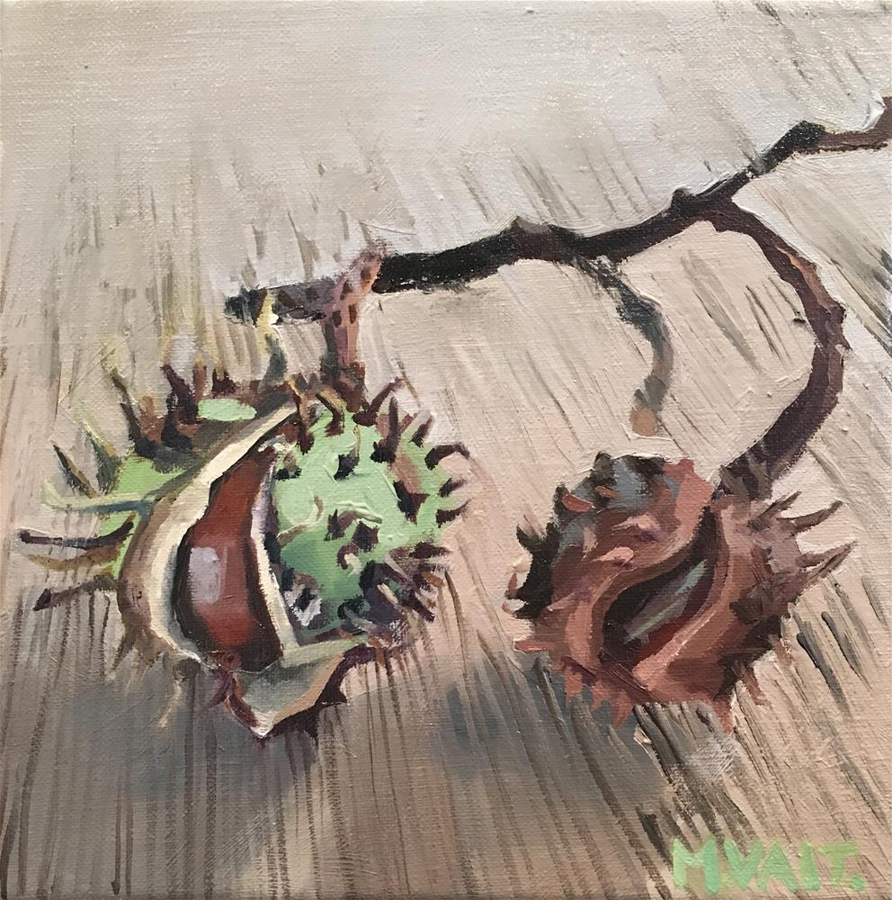 """""""Chestnuts"""" original fine art by Milda Vaitiekunaite"""