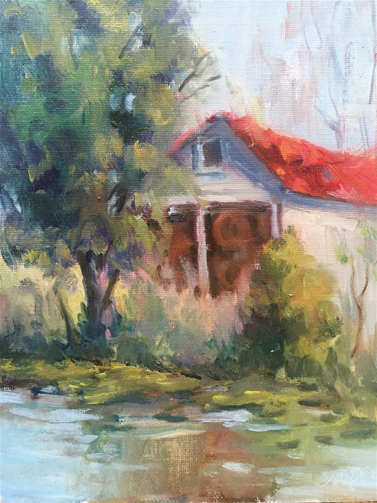 """The Hay Barn, Hunter Farm"" original fine art by Connie Snipes"
