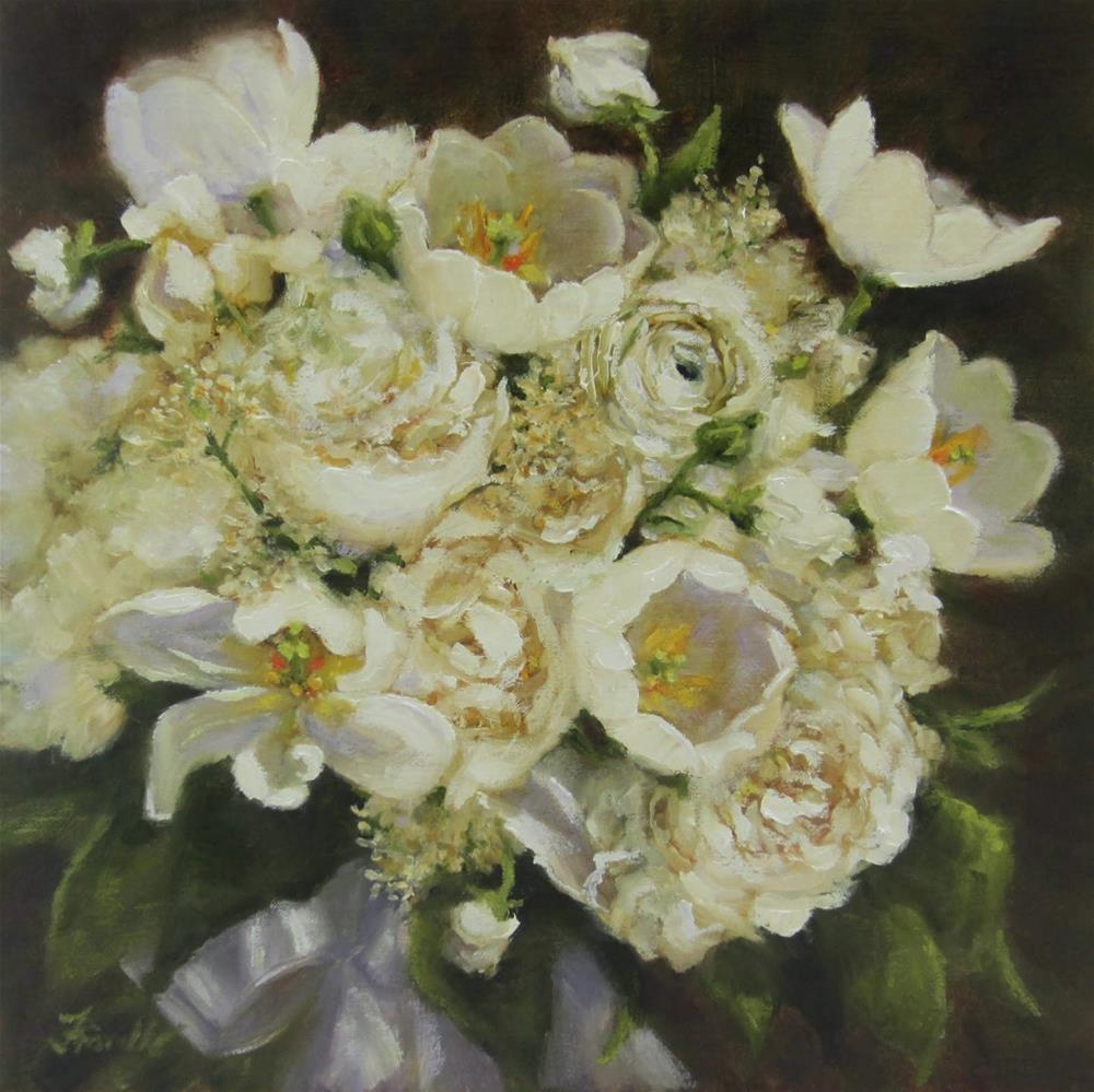 """Bridal Bouquet Portraits"" original fine art by Pat Fiorello"