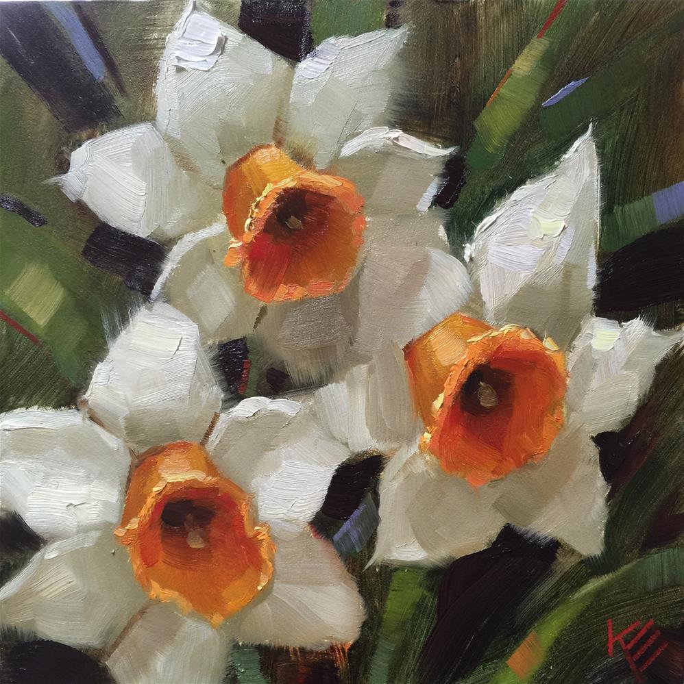 """Daffodils "" original fine art by Krista Eaton"