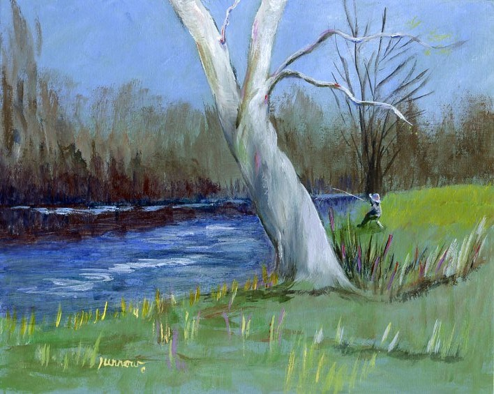 """Fishing Break"" original fine art by Sue Furrow"