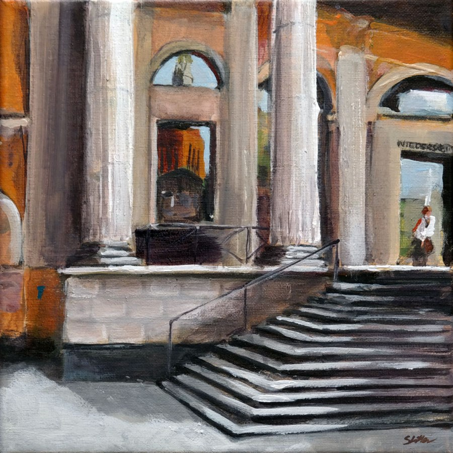 """1292 The Parliament"" original fine art by Dietmar Stiller"