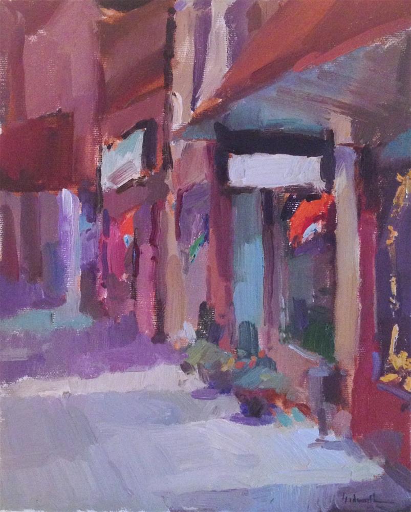 """Main Street Nocturne"" original fine art by Sarah Sedwick"