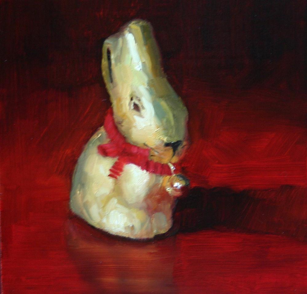 """Lindt Bunny"" original fine art by Liz Balkwill"