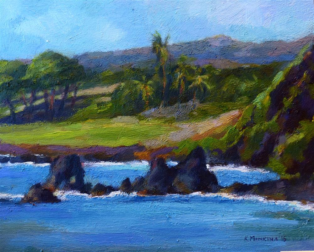 """pleinair#8 (by Hamoa Beach, Hana, Maui)"" original fine art by Katya Minkina"