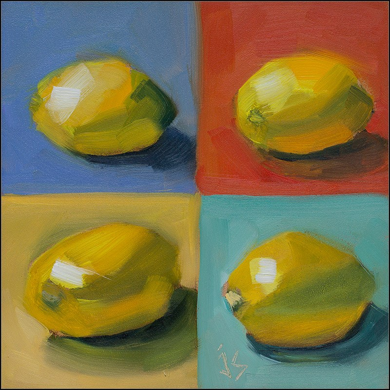 """Lemons Four Ways"" original fine art by Johnna Schelling"