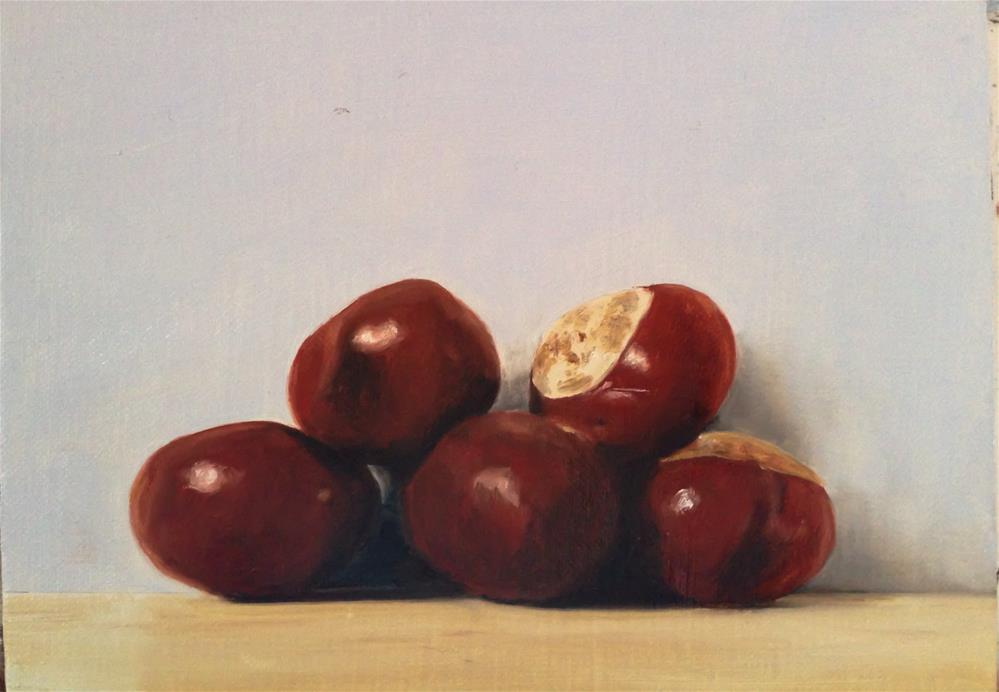 """Conkers"" original fine art by James Coates"