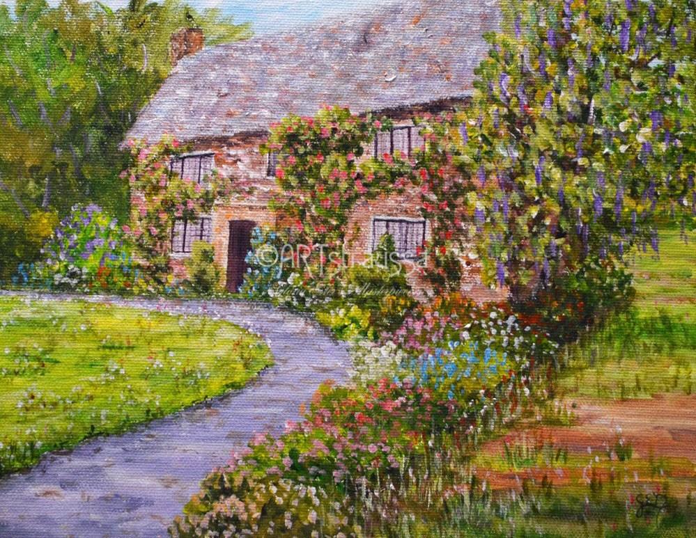 """Segensworth Estate"" original fine art by Gloria Ester"