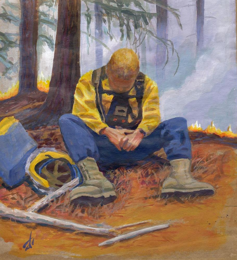 """Washington State Firefighter"" original fine art by Mark Allison"