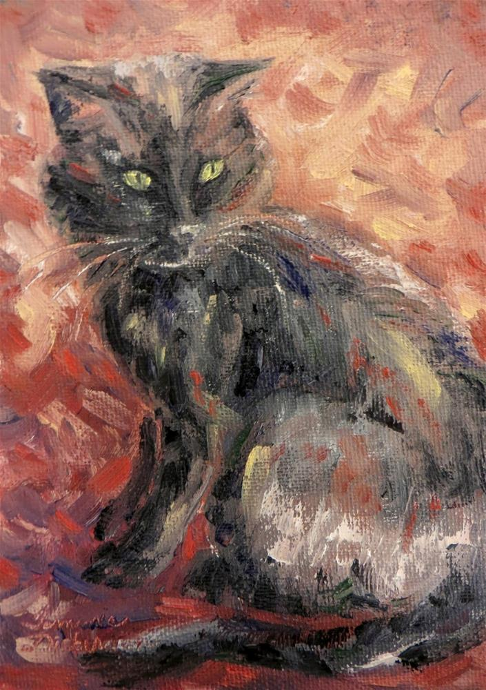 """Soco Cat"" original fine art by Tammie Dickerson"