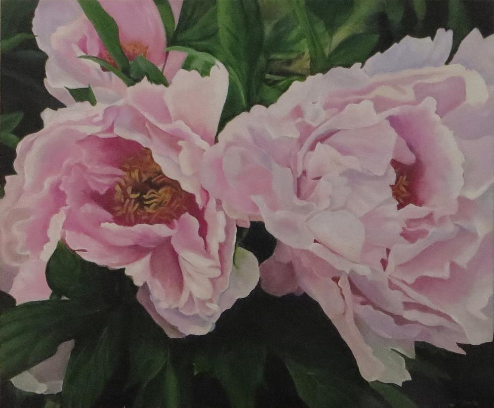 """Pretty Pink Peonies"" original fine art by Janice Cook"
