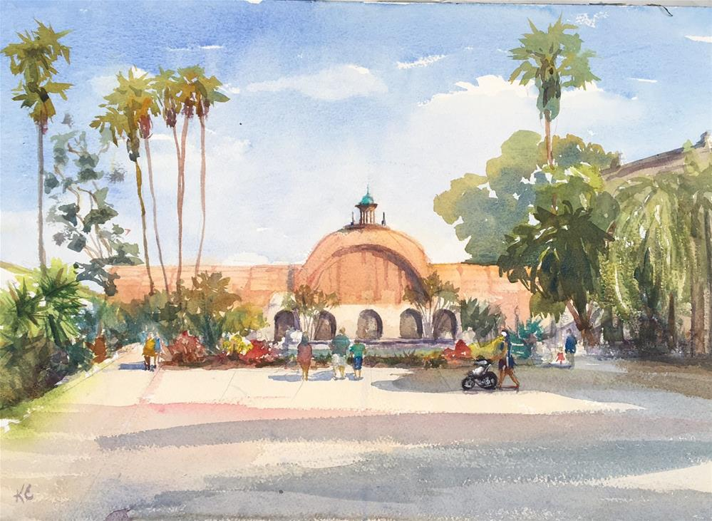 """The Queen of Balboa Park - The Arboretum"" original fine art by Katharine Engh"