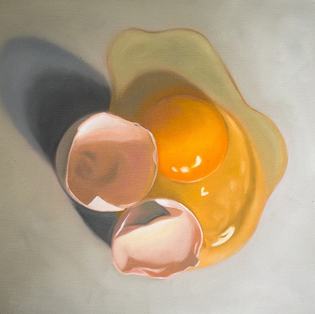 """Cracked Egg #4"" original fine art by Lauren Pretorius"