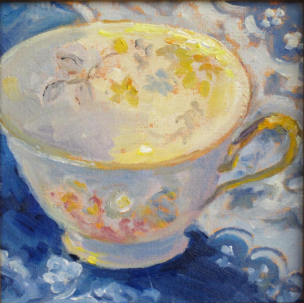"""My cup of Tea"" original fine art by Leigh Alexandra Sparks"