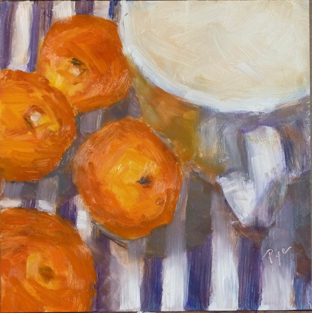 """More Oranges"" original fine art by Mary Pyche"