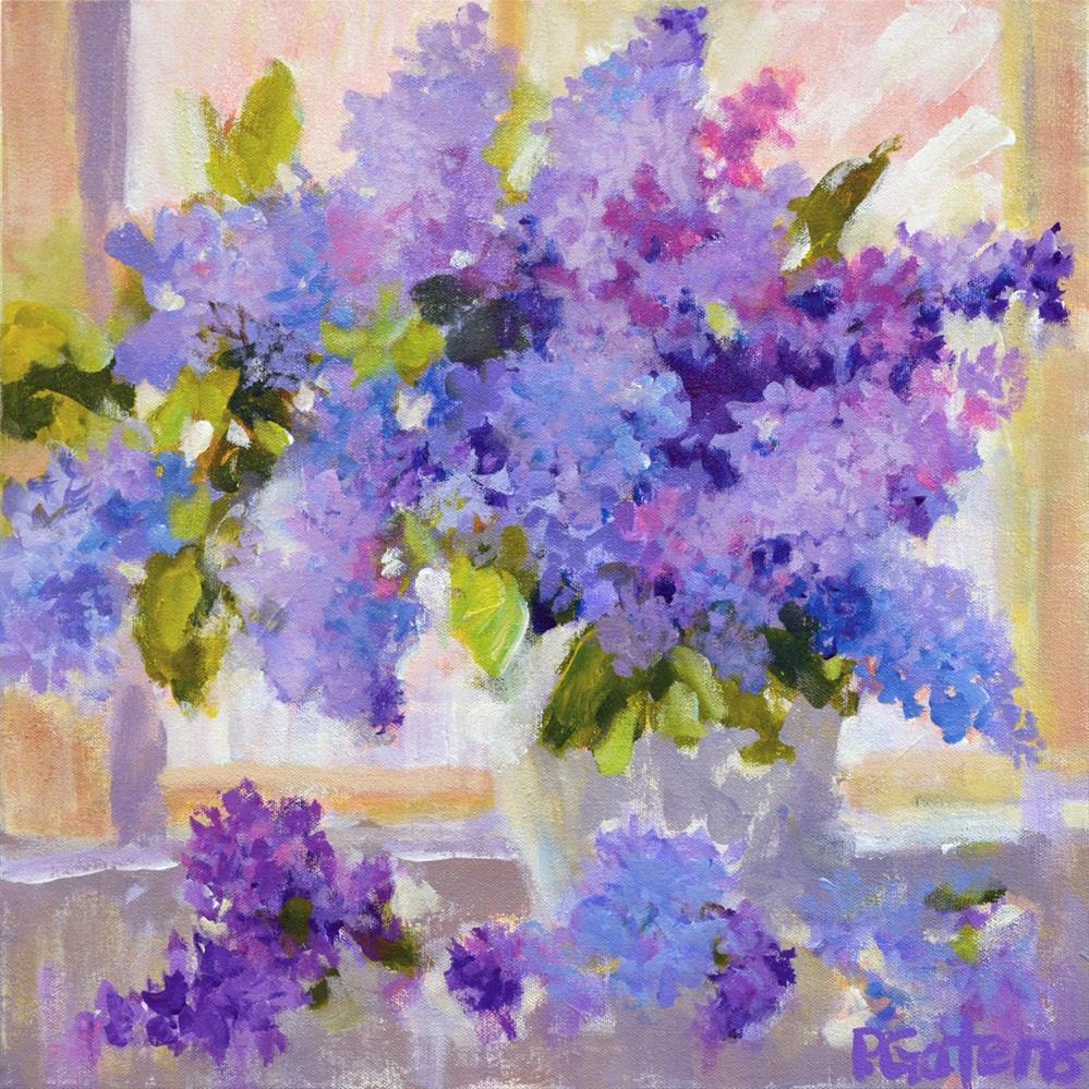 """Lacy Lilacs"" original fine art by Pamela Gatens"
