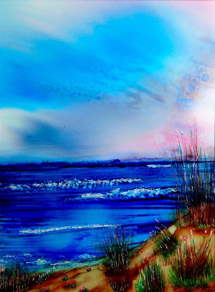"""Ocean Dunes"" original fine art by Korinne Carpino"