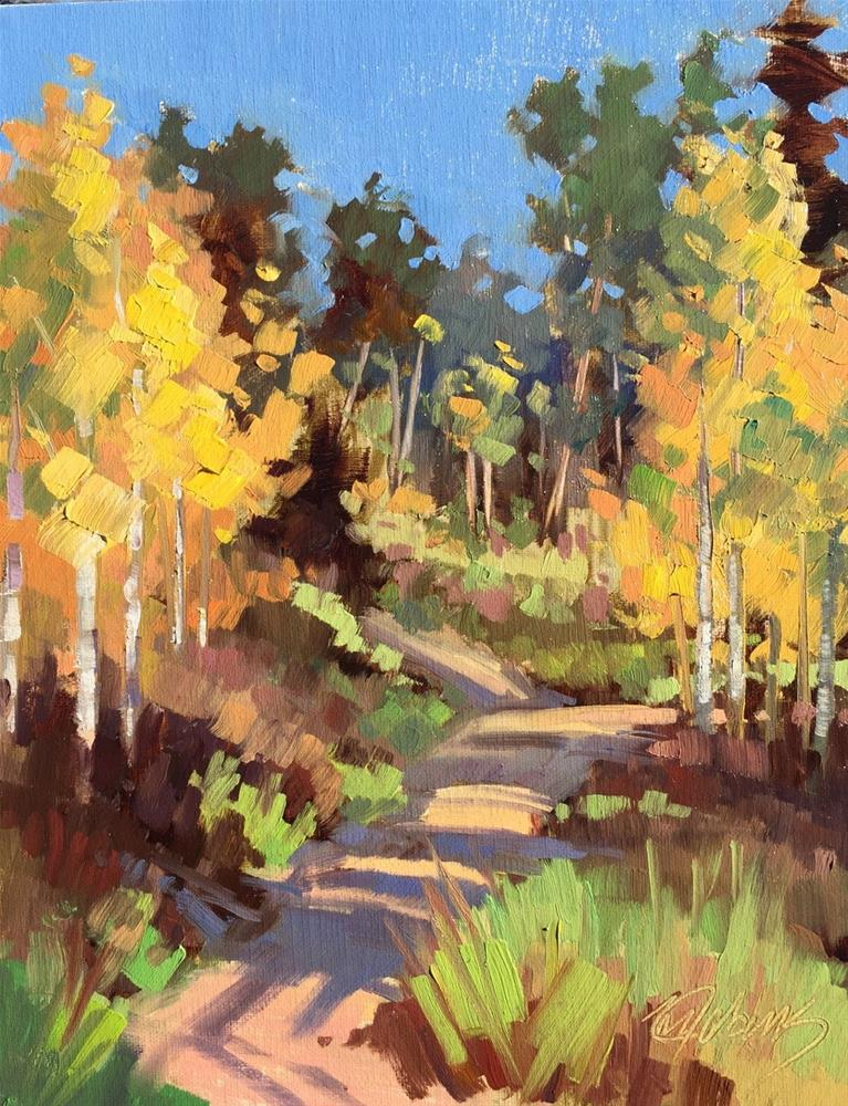 """""""Feeling of Fall"""" original fine art by Mary Jabens"""