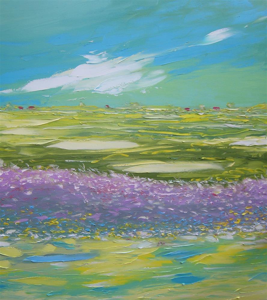 """""""Lavender field"""" original fine art by Elena Lunetskaya"""