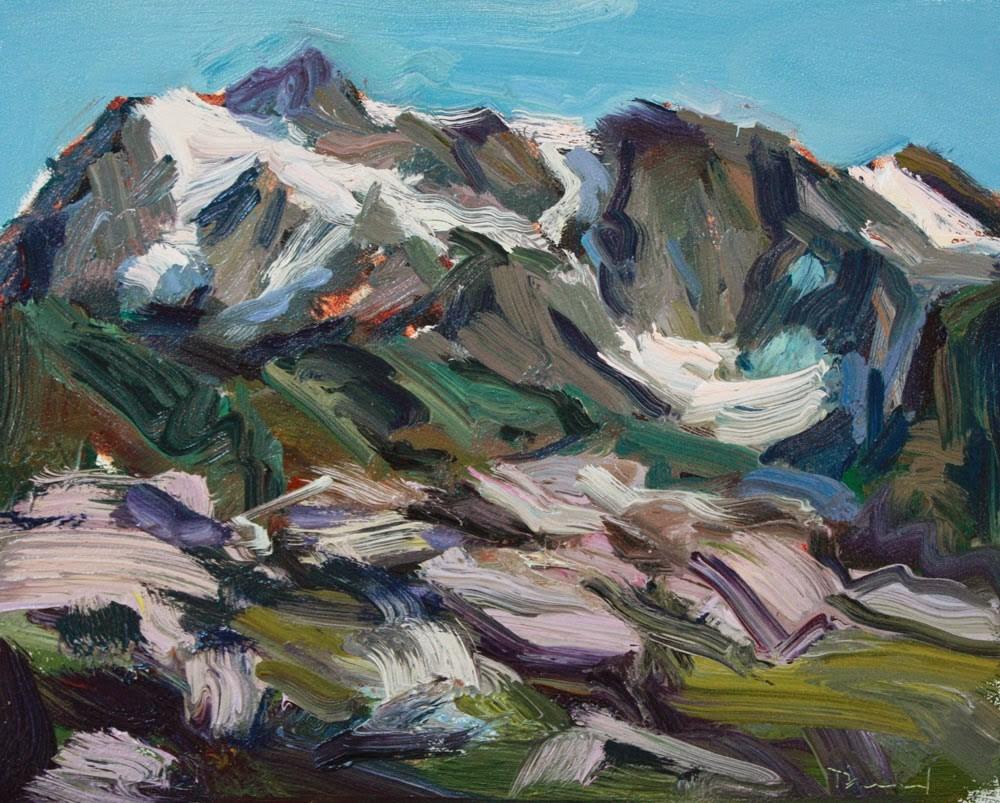 """Mt. Shuksan - SOLD"" original fine art by Kathryn Townsend"