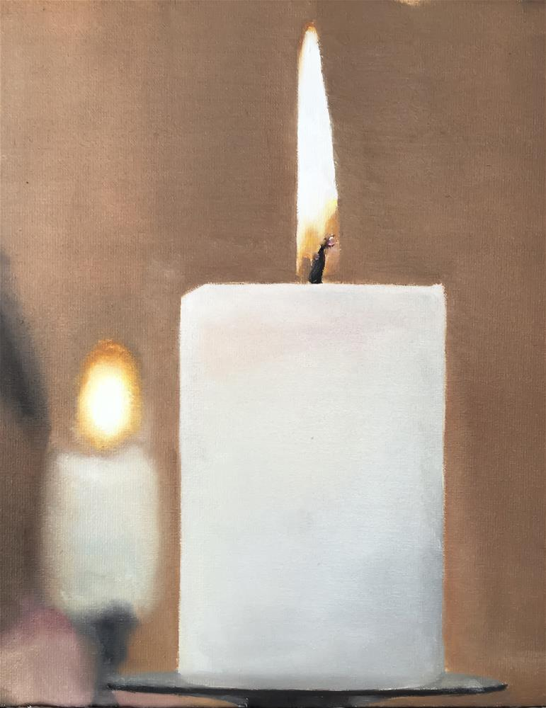 """Candles"" original fine art by James Coates"