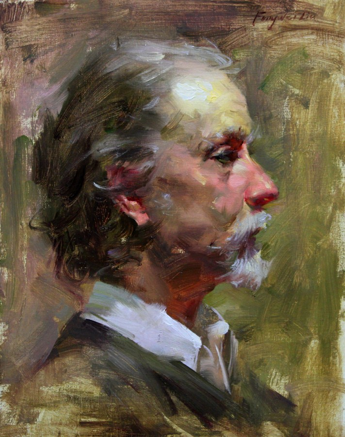 """Gregory"" original fine art by Fongwei Liu"