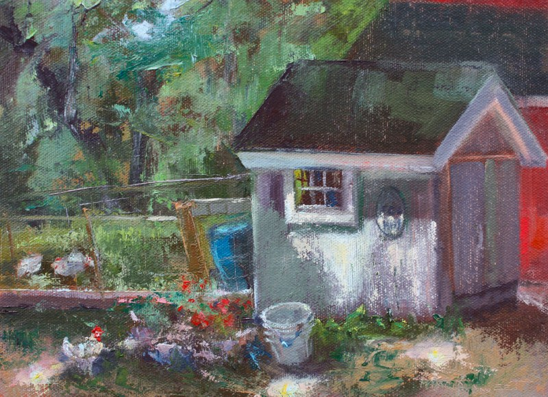 """Egg Hut"" original fine art by Pamela Sweet"