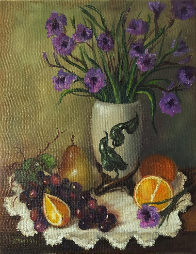 """Mexican Petunias"" original fine art by Sissy Blakslee"