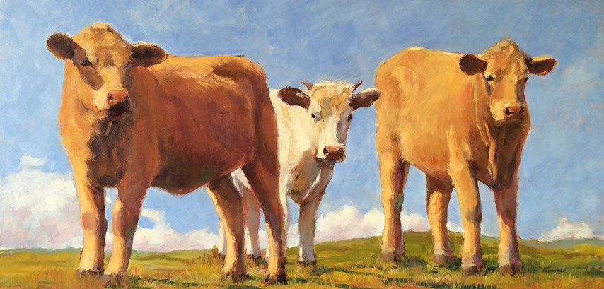 """Three Amigos"" original fine art by Deborah Newman"