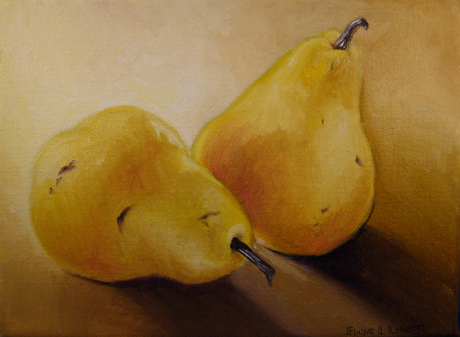 """Pears 2"" original fine art by Elaine Lynest"