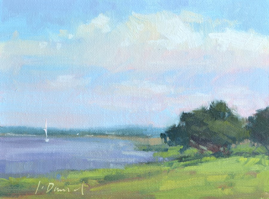"""River Sailing - Georgia Coast"" original fine art by Laurel Daniel"