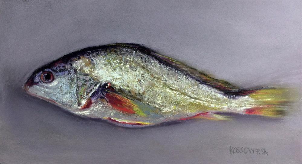 """Market Fish"" original fine art by Cristine Kossow"