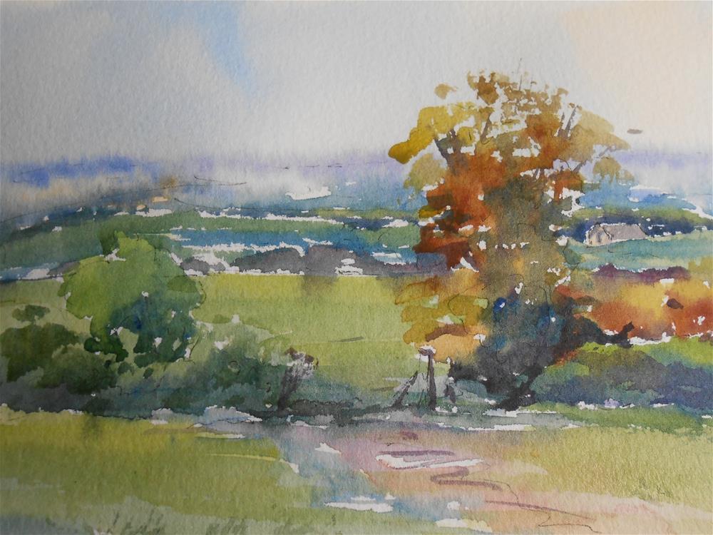 """""""October morning"""" original fine art by Graham Findlay"""