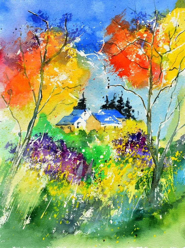 """watercolor 518030"" original fine art by Pol Ledent"