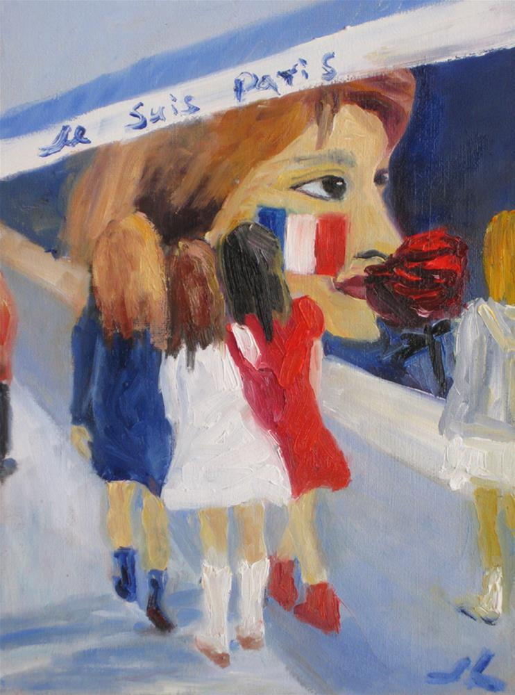 """Je Suis Paris"" original fine art by Julia Lu"