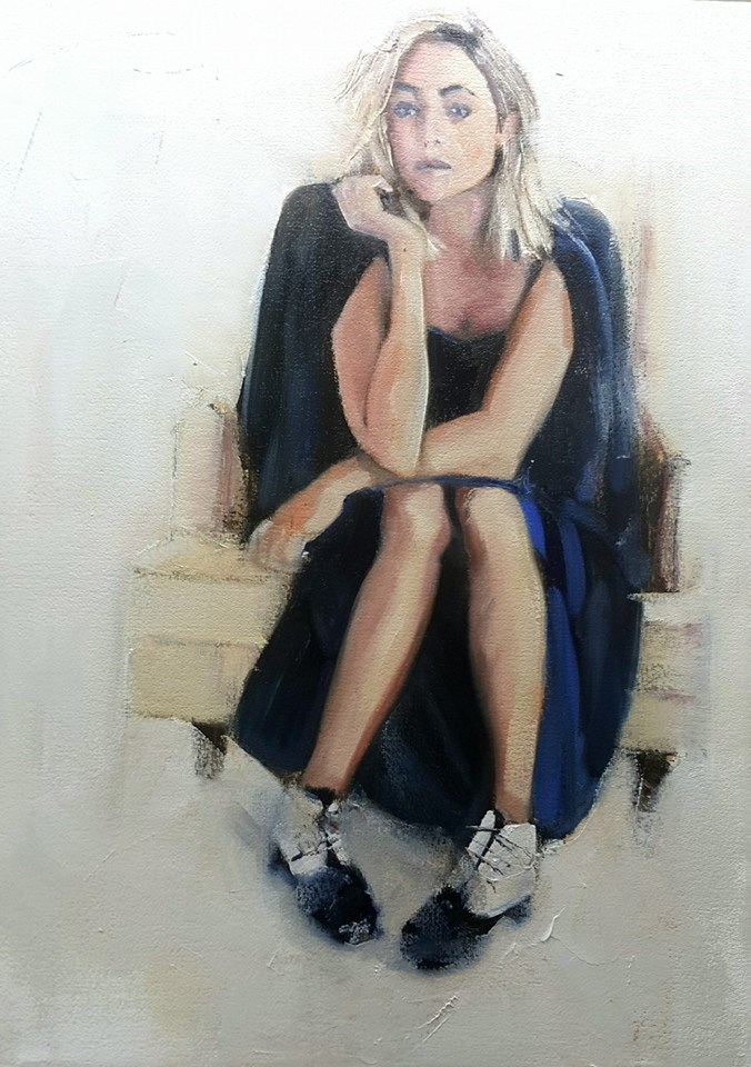 """The waiting game"" original fine art by Rentia Coetzee"