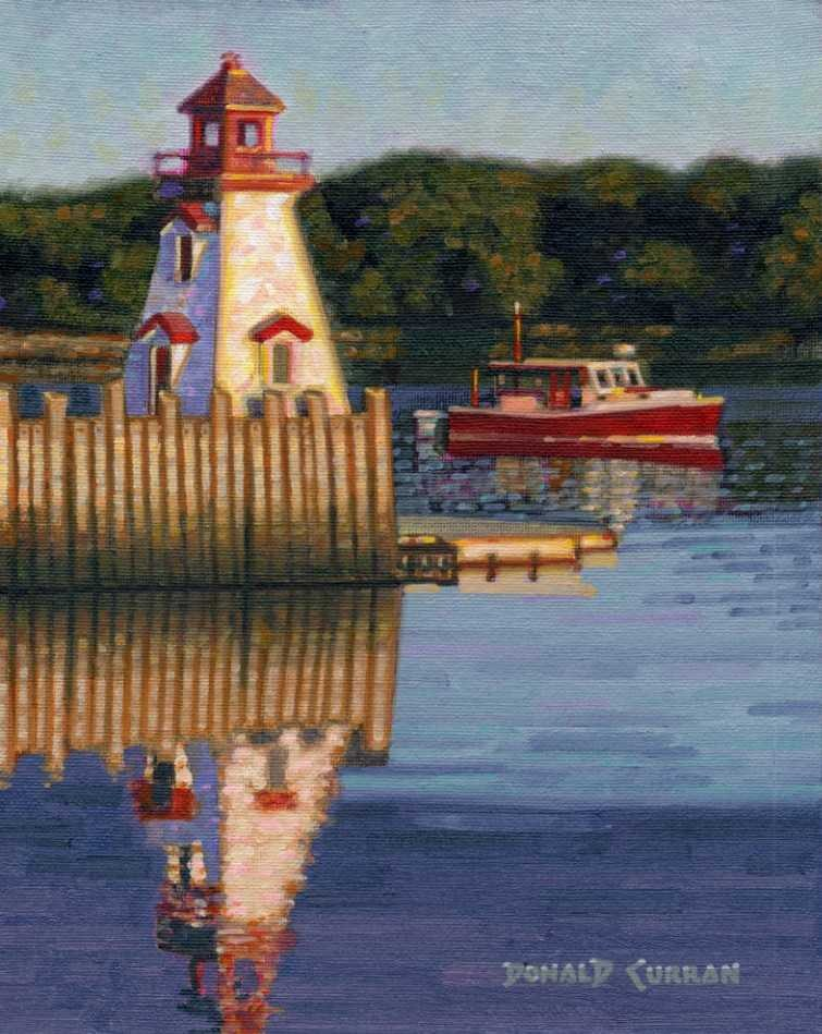 """New Brunswick harbor"" original fine art by Donald Curran"