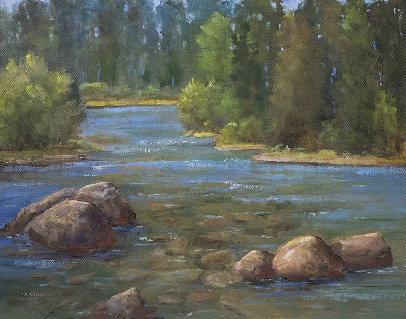 """Poudre River"" original fine art by Bonnie Bowne"