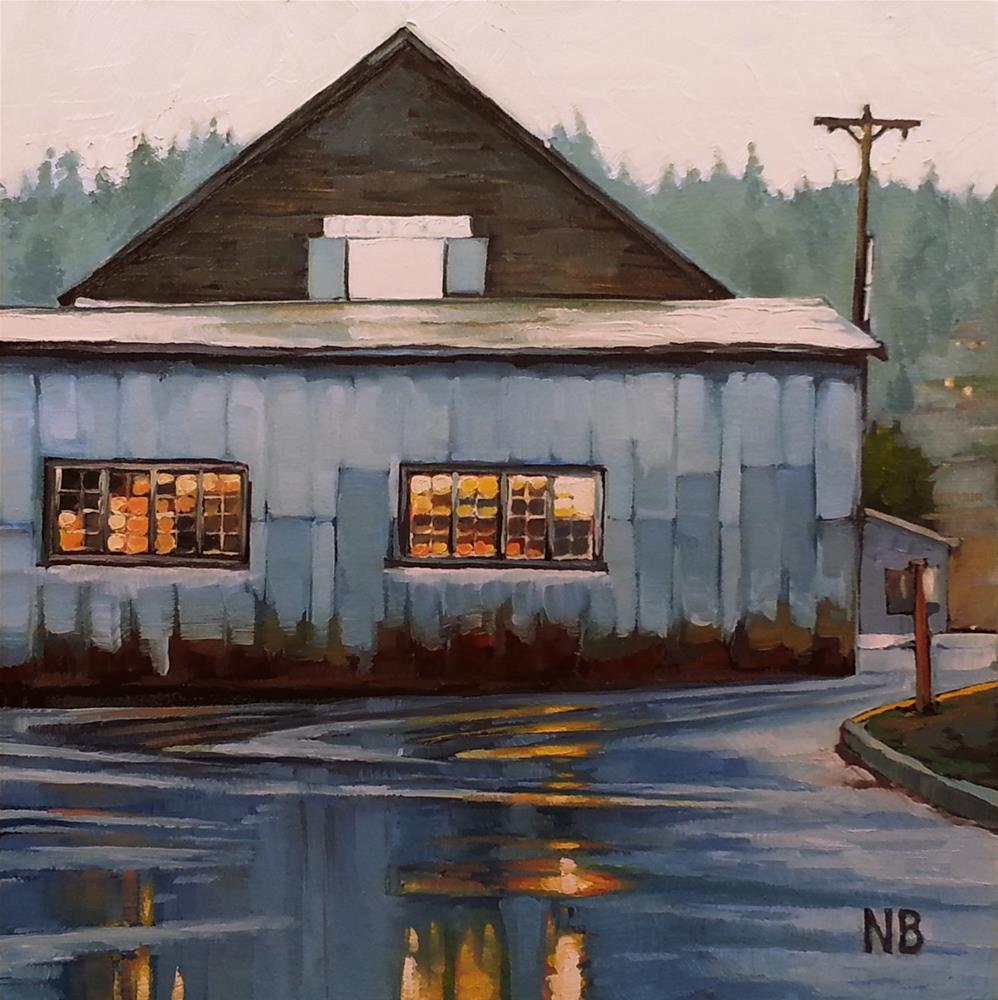 """Let it Rain"" original fine art by Nora Bergman"