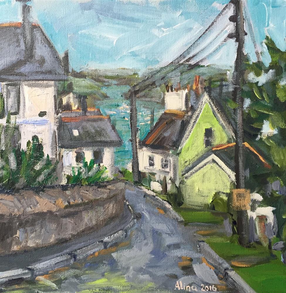 """Fowey Cornwall View"" original fine art by Alina Vidulescu"