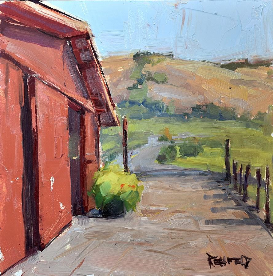 """Yvonne's Barn"" original fine art by Cathleen Rehfeld"