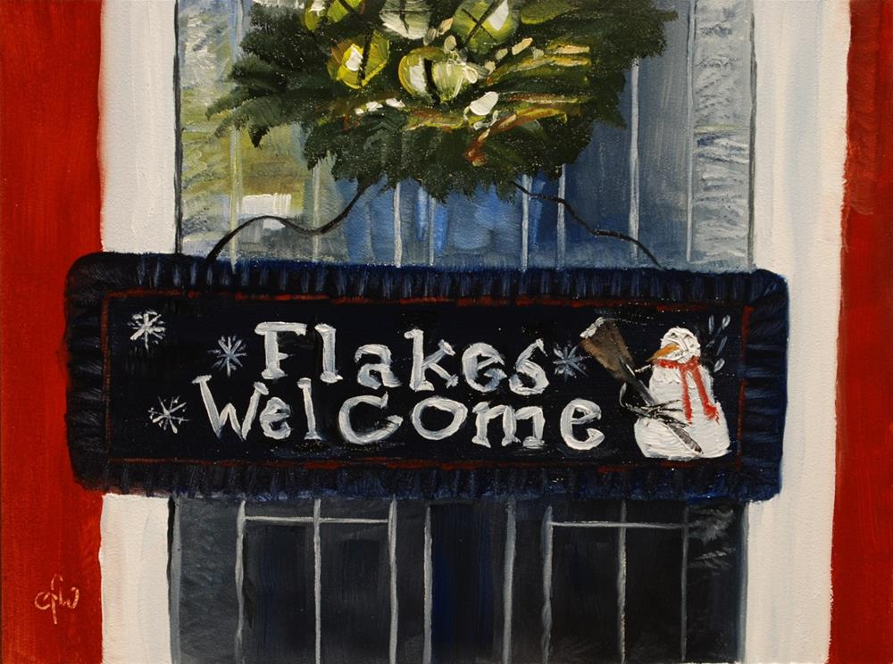 """Flakes Welcome"" original fine art by Gary Westlake"