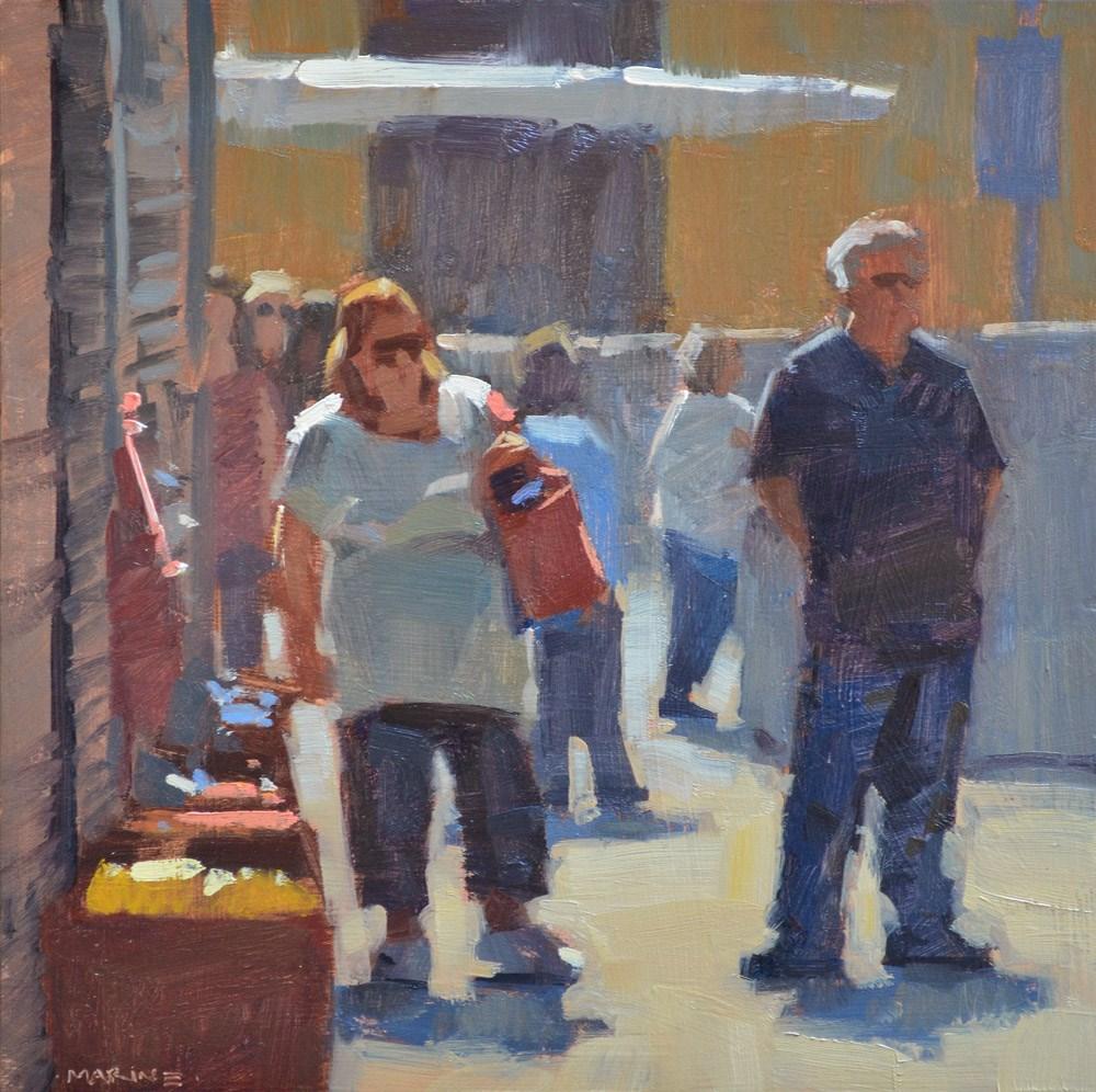 """The Patient Husband"" original fine art by Carol Marine"