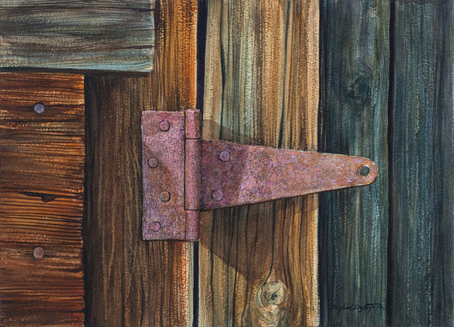 """Hinged"" original fine art by Rafael DeSoto Jr."