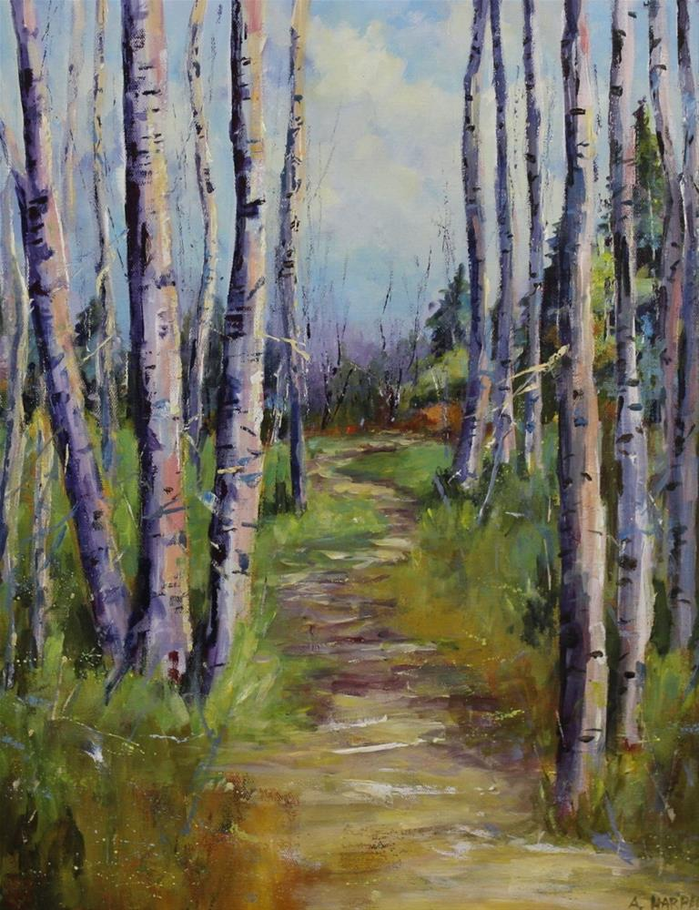 """Original Colorado aspen landscape acrylic painting"" original fine art by Alice Harpel"