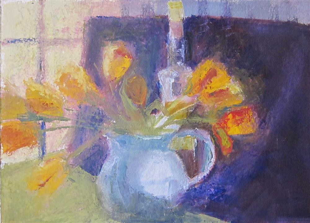 """Winter Tulips in the Sun"" original fine art by Carol Wiley"