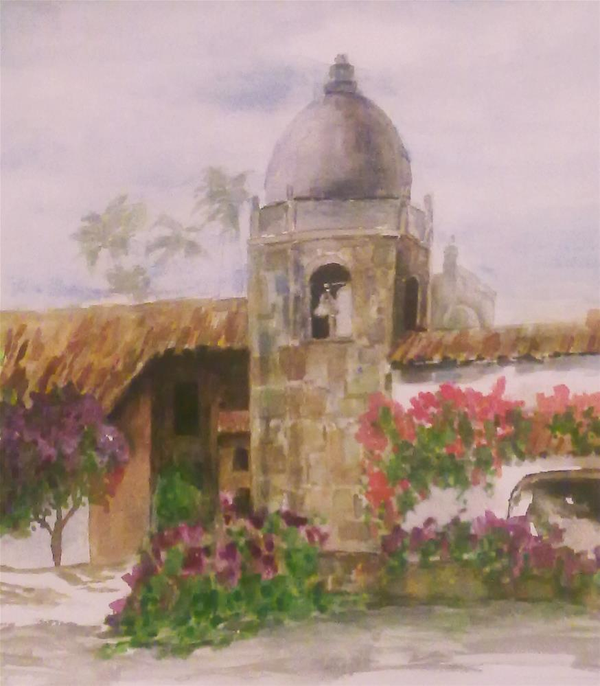 """Carmel Mission"" original fine art by Jules Fine Art Gallery"