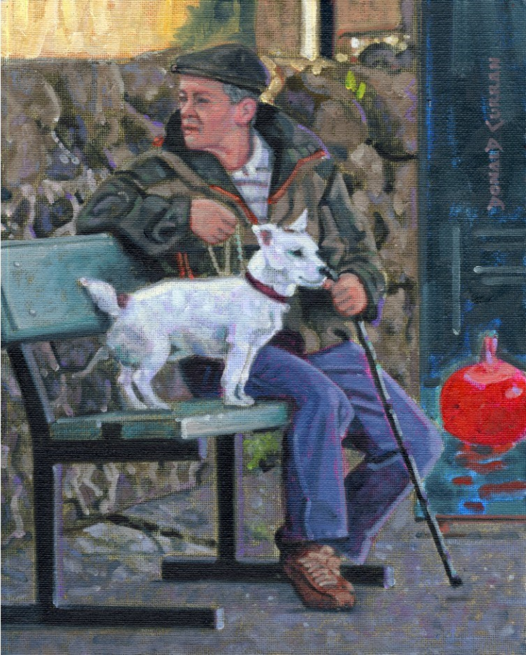 """Buddies"" original fine art by Donald Curran"