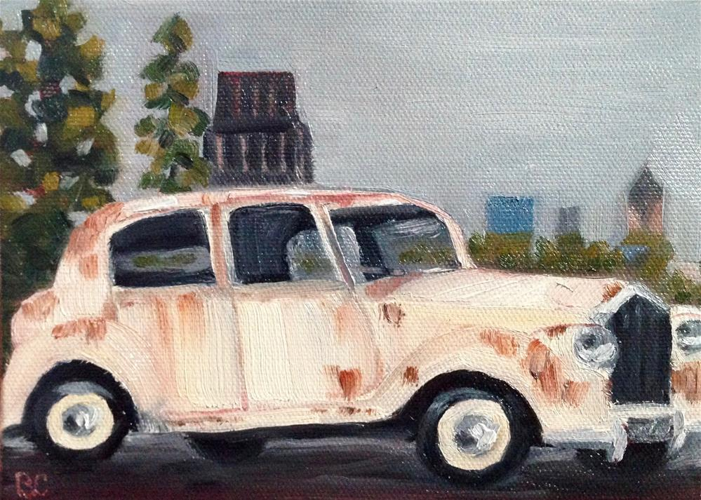 """Rusty Ride"" original fine art by Bobbie Cook"