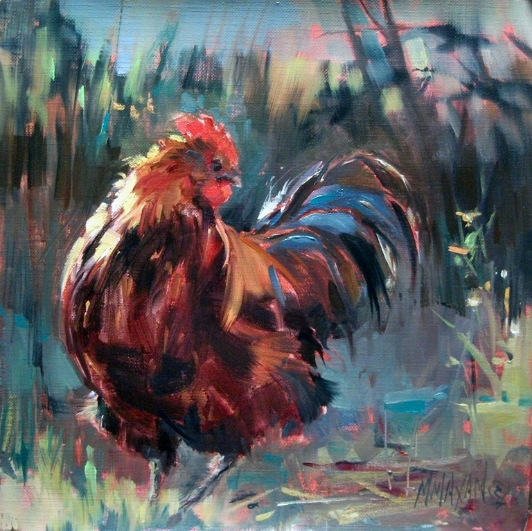 """His Best Side"" original fine art by Mary Maxam"